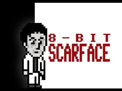 Scarface im 8-Bit Look