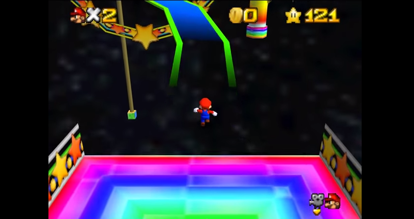 Die Rainbow Road als Spielbares Super Mario 64-Level