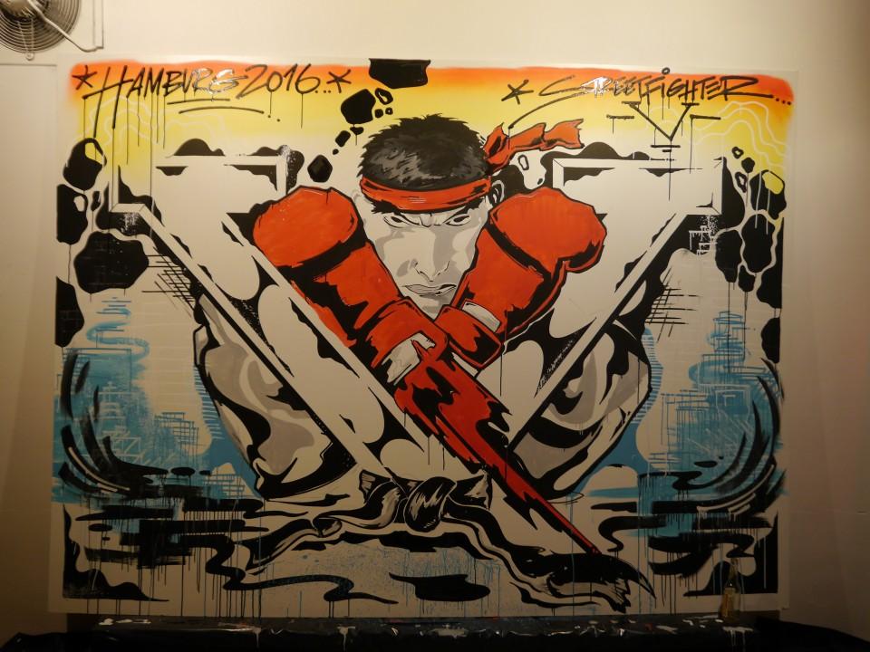 Street Artists verewigen Ryu