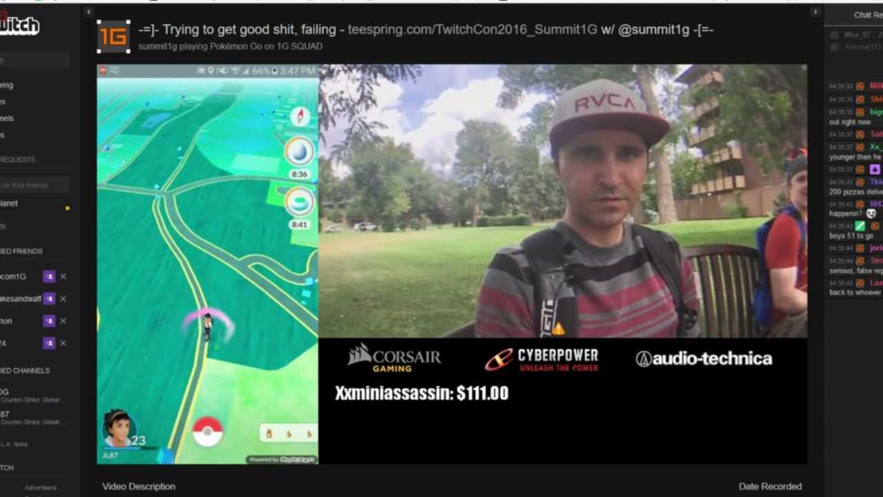 """Twitch – Streamer """"summit1g"""" geswatted während Pokémon GO"""