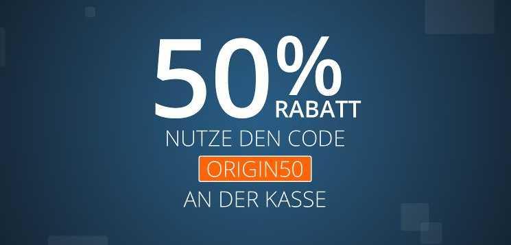 Origin Sale – Für ziemlich viel 50% Rabatt!