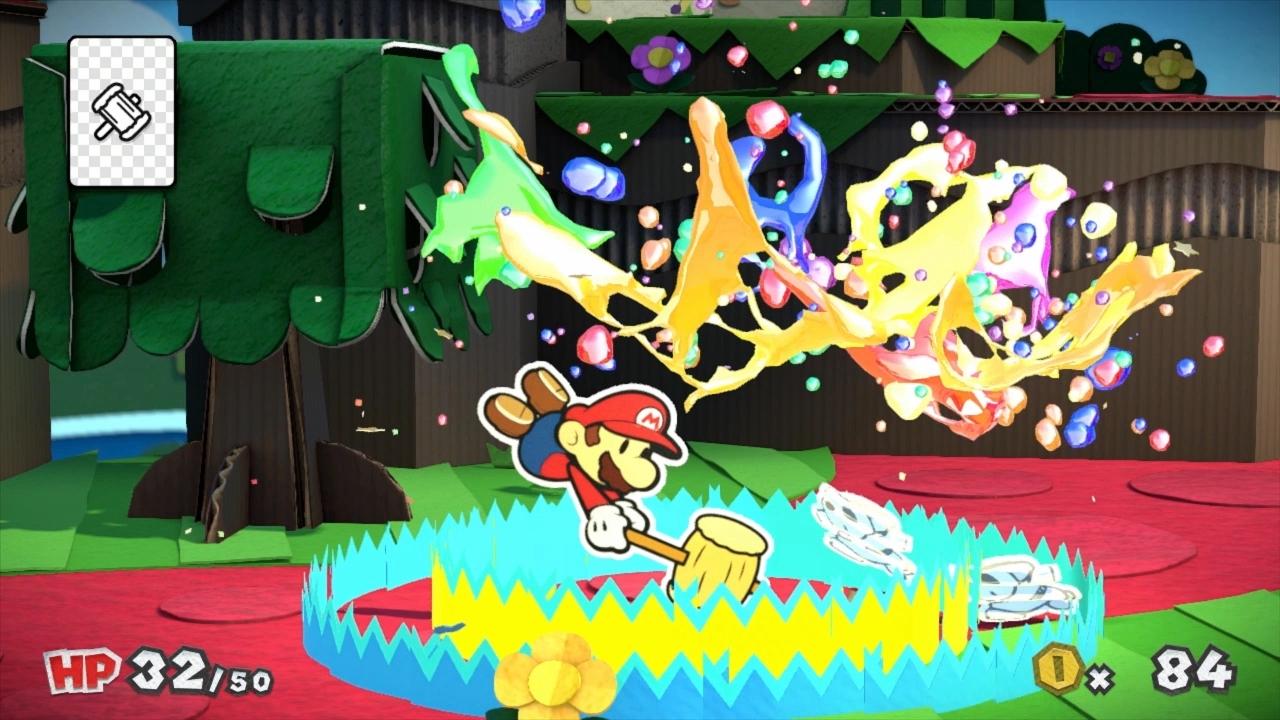 Paper Mario Color Splash im Test – Ein Eimer sieht rot!