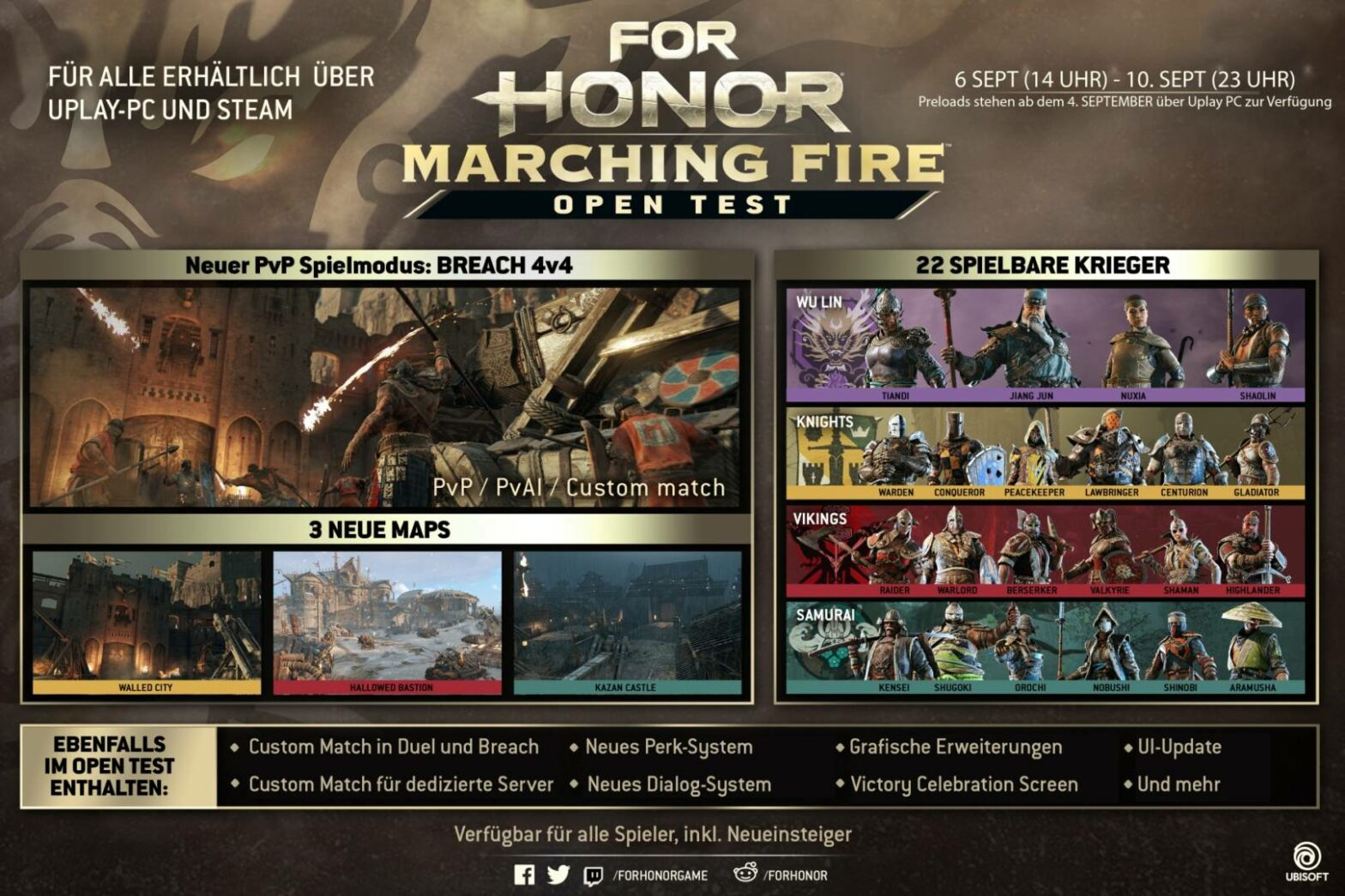 Open Test für For Honor: Marching Fire