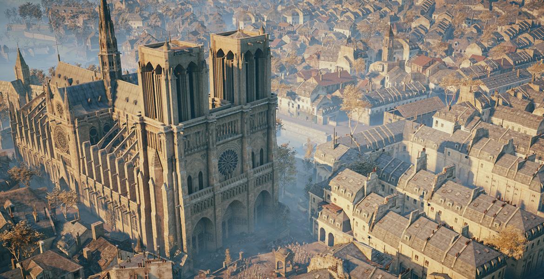 """Notre-Dame de Paris von den Spielern von """"Assassin's Creed"""" geehrt"""
